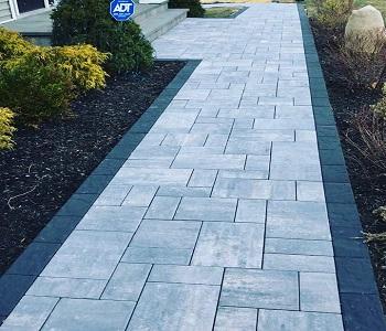 Stone Walkway & Patio Landscaping